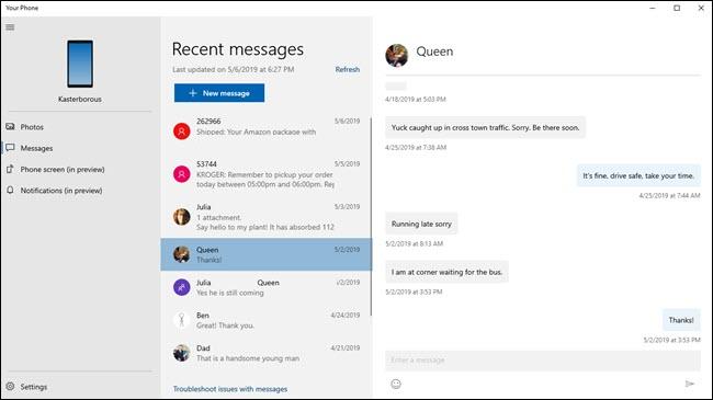 Leggere i propri messaggi, ricevuti in un dispositivo Android, nel PC