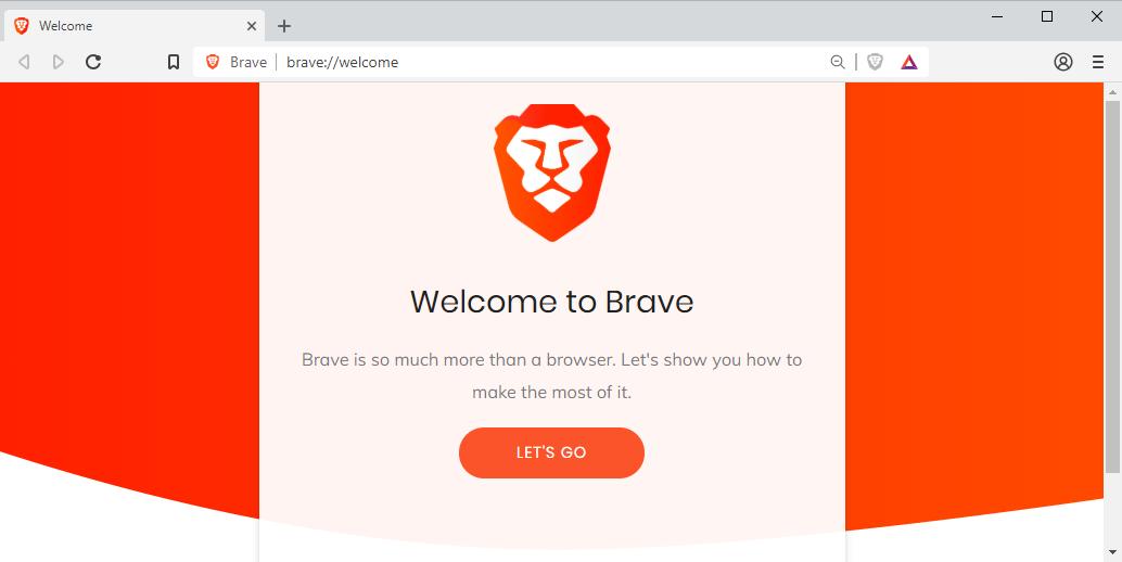 La pagina principale del browser Brave