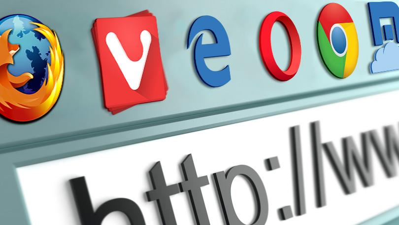 I loghi di alcuni dei principali browser disponibili gratuitamente