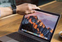 La foto di un Mac e di un Apple Watch