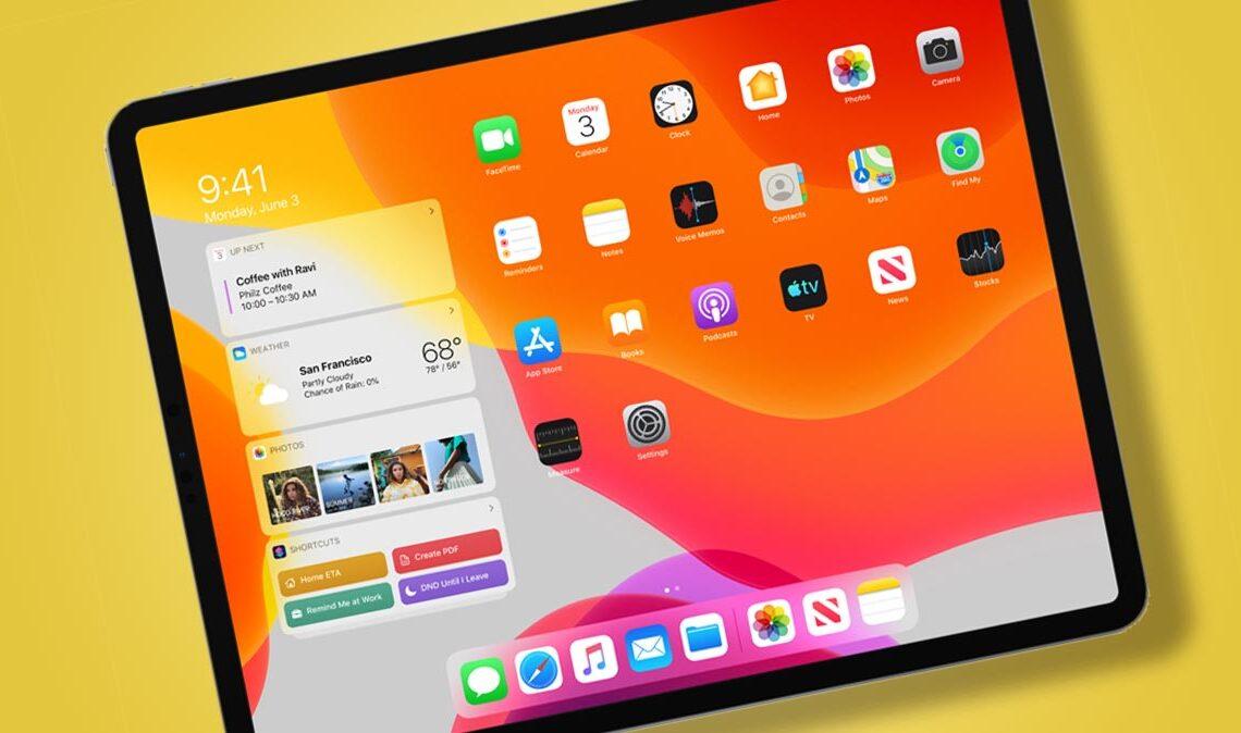 Un iPad con iPadOS
