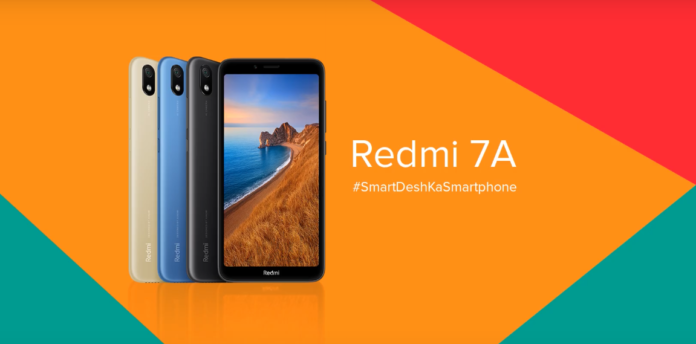 redmi 7A foggy gold