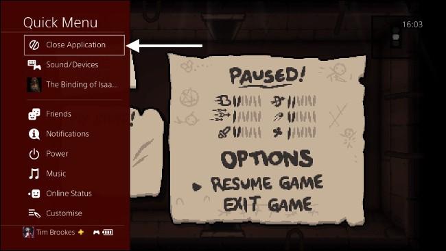 Chiudere applicazioni in PS4