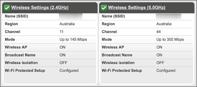 Le due reti Wi-Fi