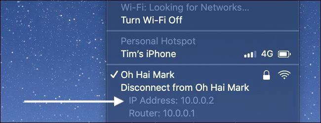 Indirizzo IP in Mac