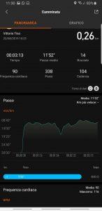 Mi Band 4 app Mi Fit - dati allenamento
