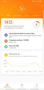 Mi Band 4 app Mi Fit - schermata home
