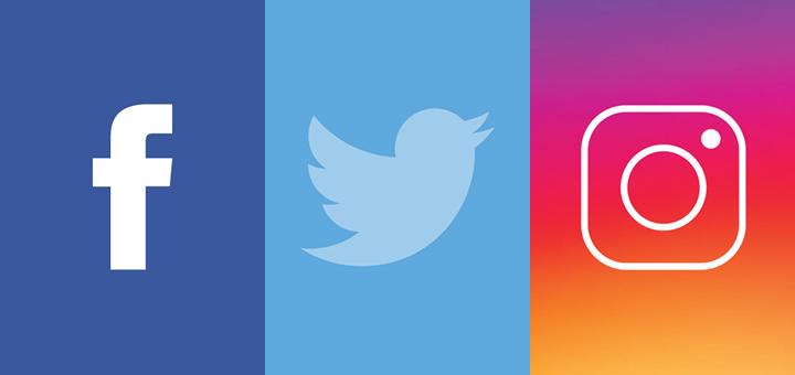 Le icone di alcuni social network