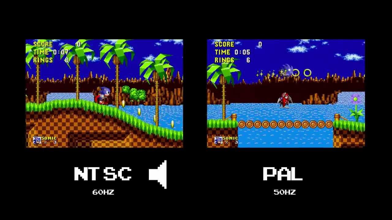 La differenza di NTSC e PAL in un videogioco