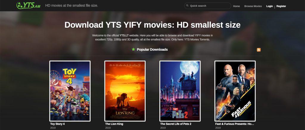 yts è il portale adatto a chi vuole scaricare film in HD
