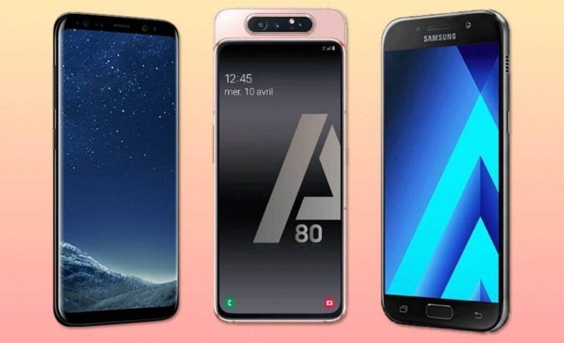 Samsung Galaxy S8, A80 e A5