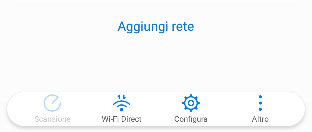 "L'icona di ""Wi-Fi Direct"" in Android"