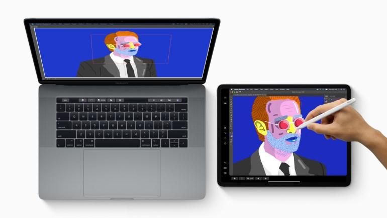iPad e Apple Pencil vengono utilizzati per disegnare in un Mac