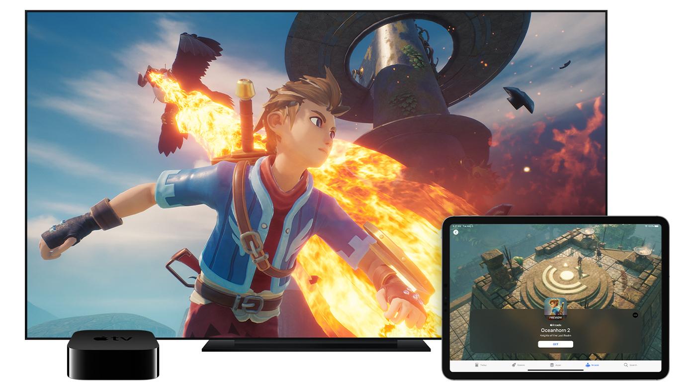 L'immagine promozionale di Apple Arcade