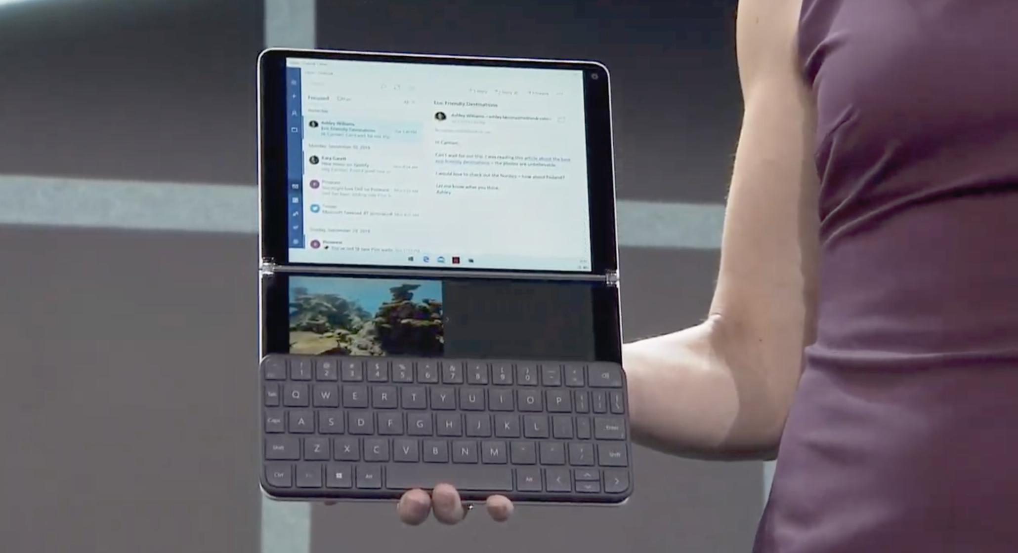 Una foto di un tablet in cui gira il nuovo OS
