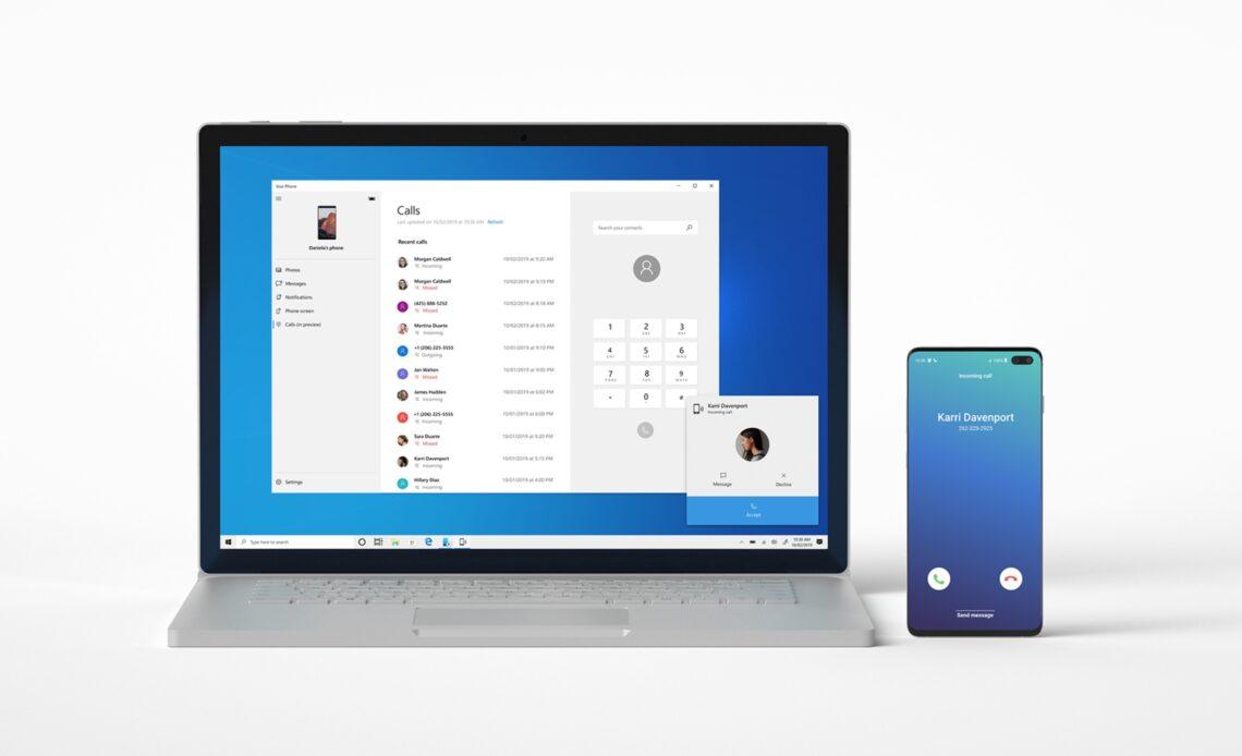 Un computer Windows e uno smartphone Android
