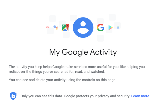 La pagina con cui gestire l'attività Google
