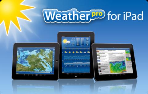 L'immagine promozionale di WeatherPro per iPadOS