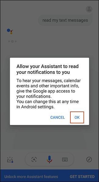 Dare i permessi a Google Assistant