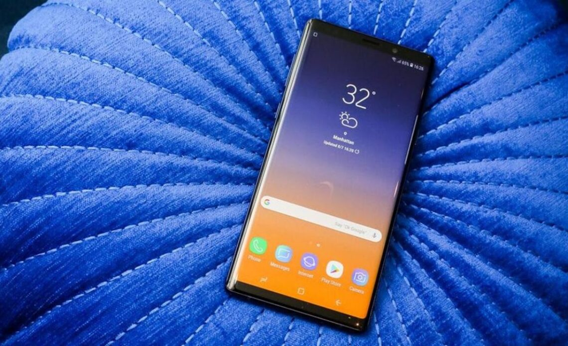 Samsung Galaxy Note 9 patch di sicurezza di novembre
