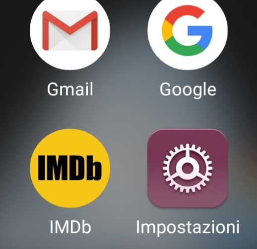 """L'icona di """"Impostazioni"""""""