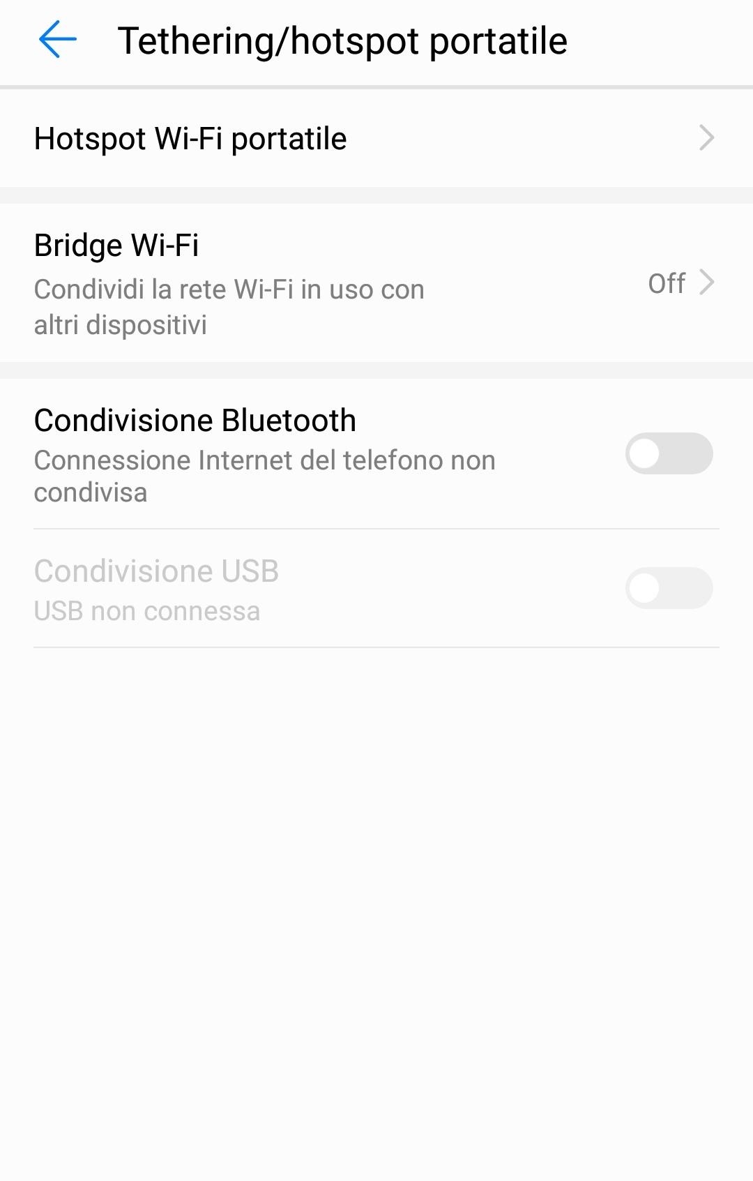 """La voce """"Hotspot Wi-Fi portatile"""", per configurare il router"""