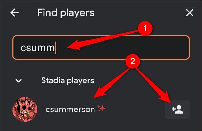 La ricerca di utenti su Google Stadia