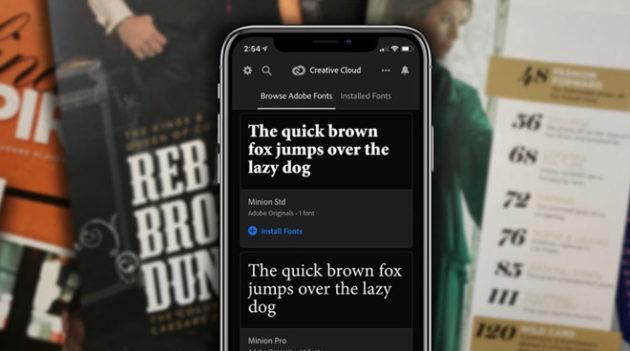 La schermata principale di Adobe Creative Cloud