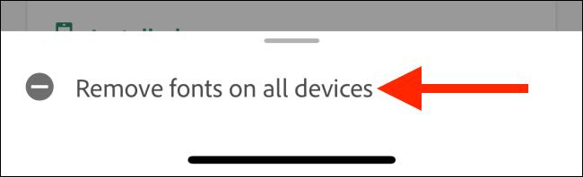 """L'opzione """"Rimuovi caratteri su tutti i dispositivi"""""""