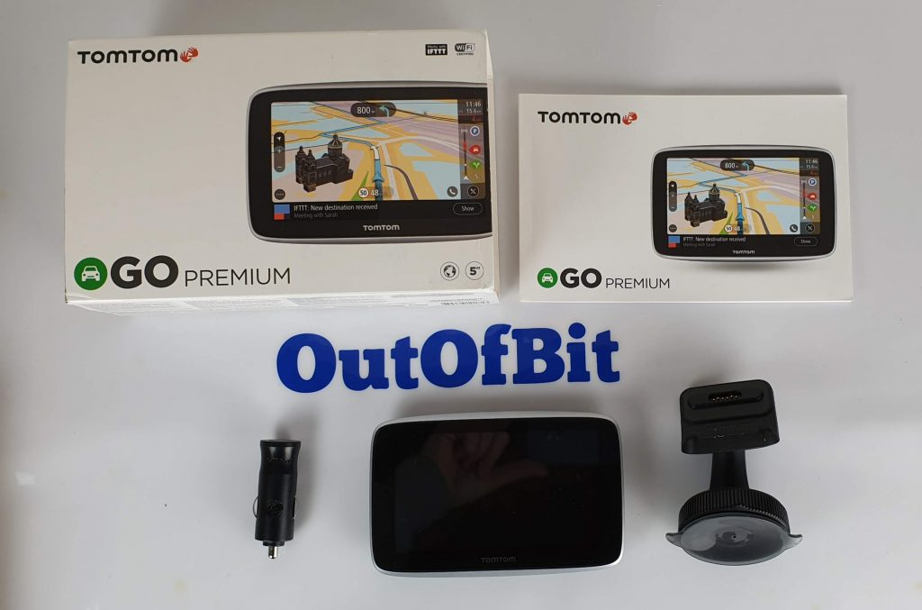 Recensione TomTom GO Premium - contenuto della confezione