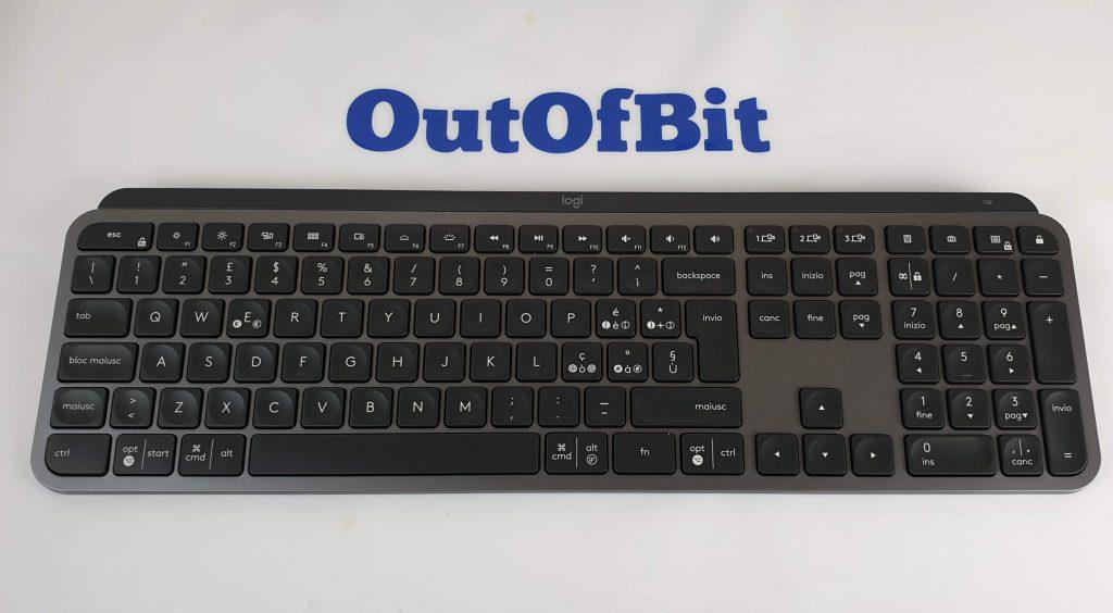 tastiera Logitech MX Keys tasti a basso profilo