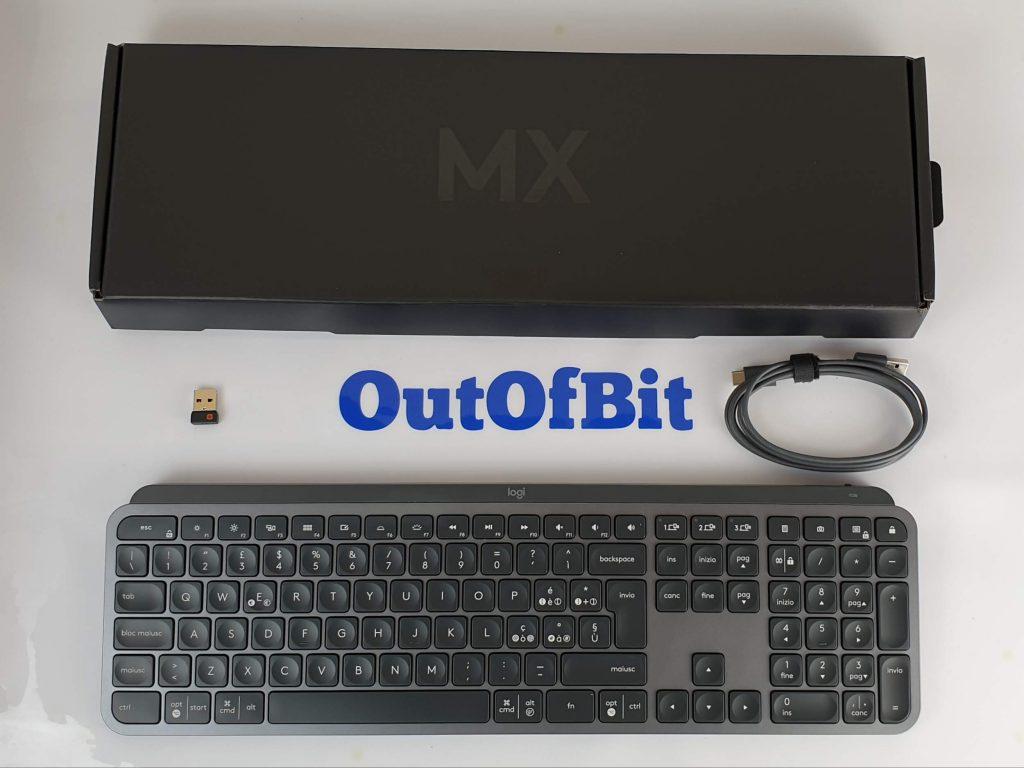tastiera Logitech MX Keys confenzione e contenuto
