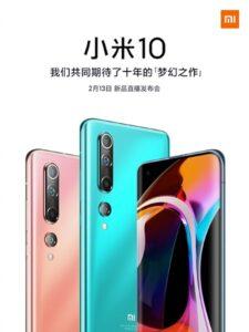 Xiaomi Mi 10 e 10 Pro