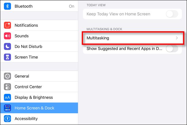 Multitasking su iPad