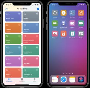 App comandi rapidi iPhone iPad iOS13
