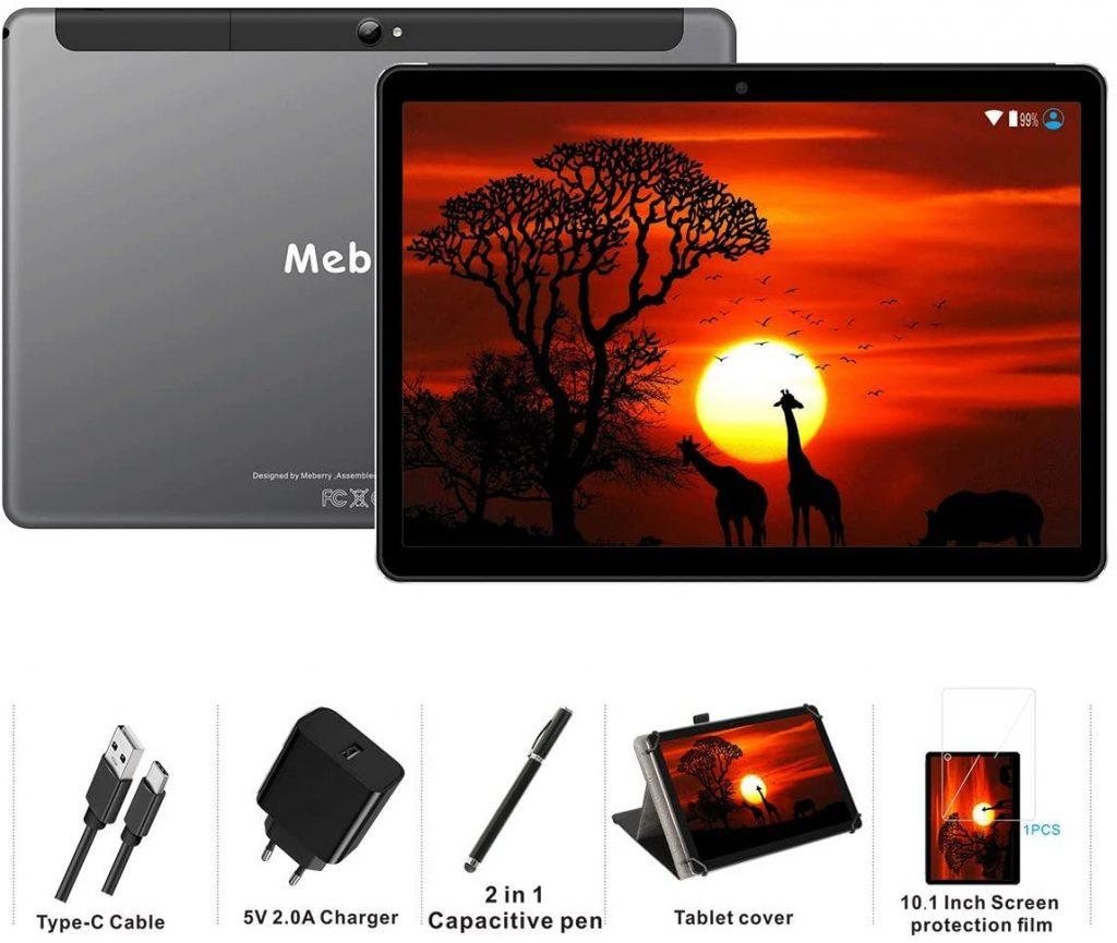 Meberry Tablet 10 Pollici dotazione confezione