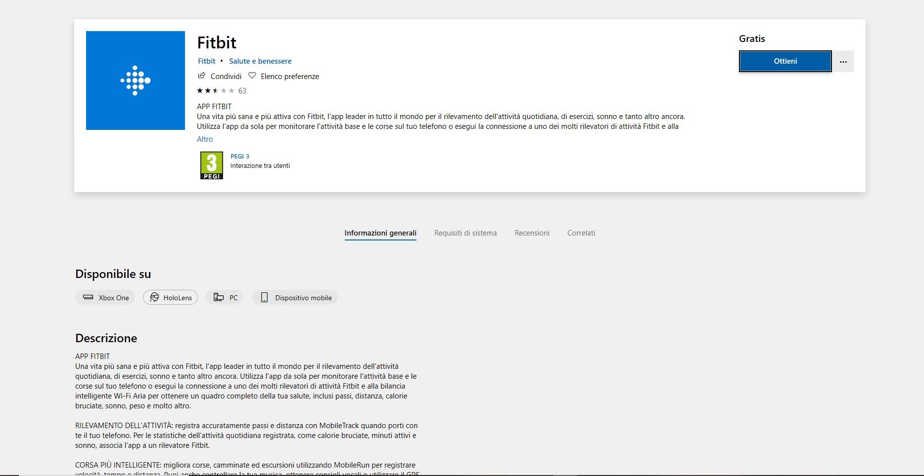 Un'applicazione in Microsoft Store