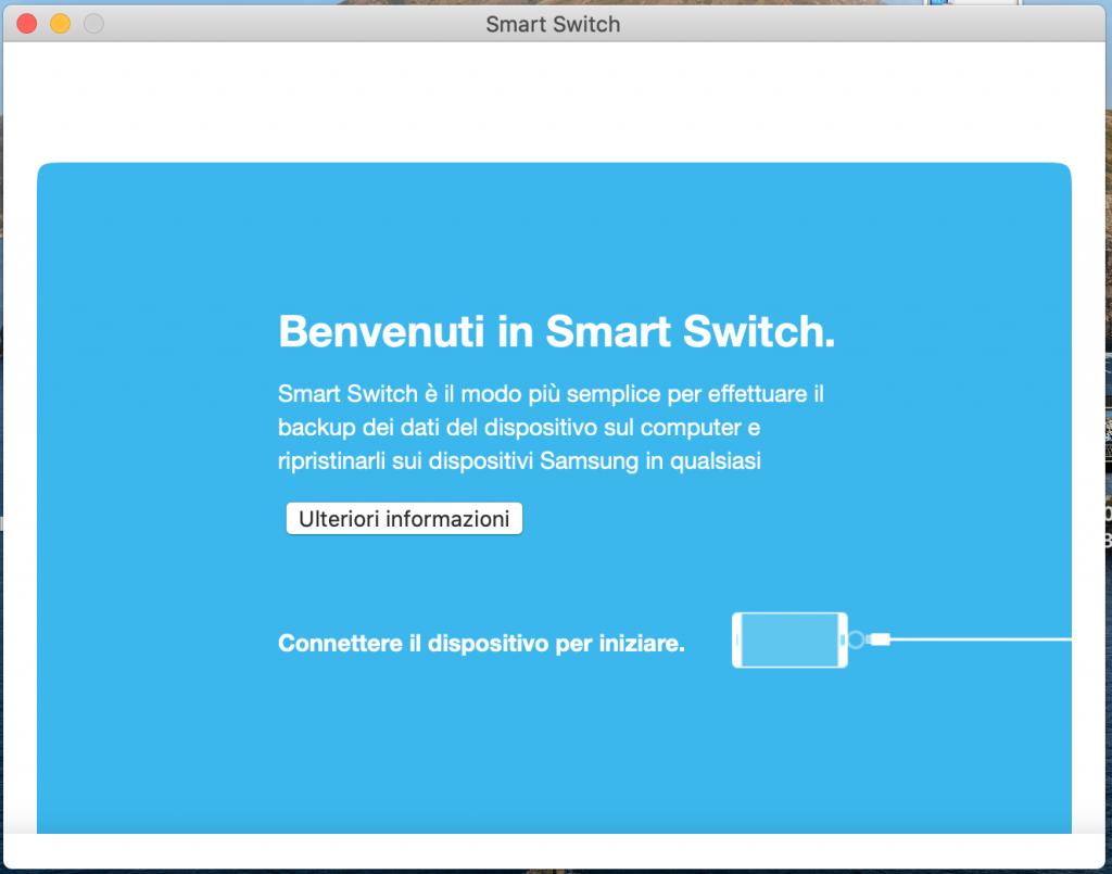 collegare smartphone samsung galaxy a mac