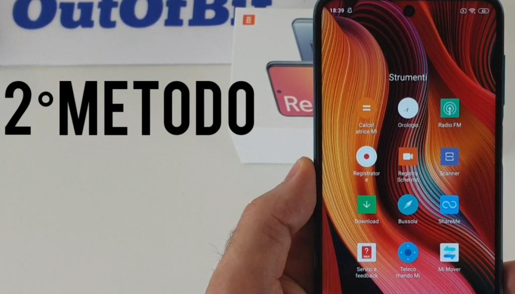 registrare lo schermo su smartphone Xiaomi con MIUI 11 e MIUI 12 - app