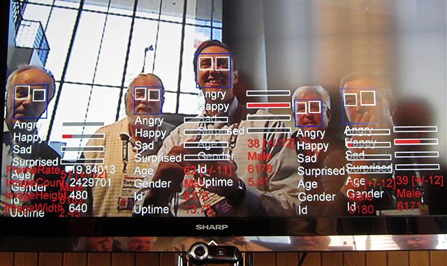 Algoritmo di riconoscimento facciale in funzione