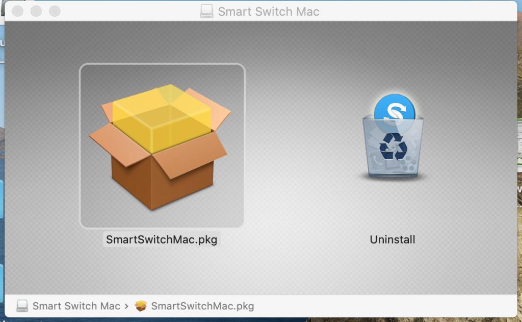 installare samsung smart swtich su mac