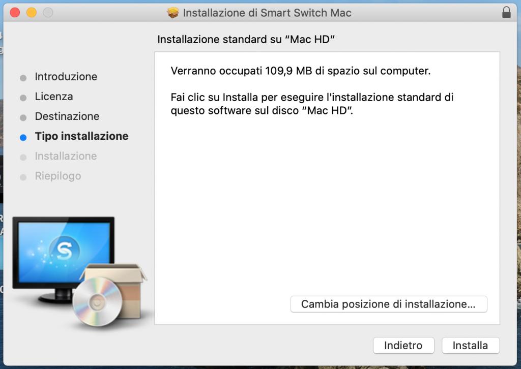 installazione samsung smart swtich su mac