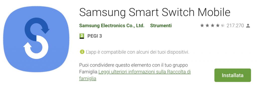 samsung smart switch mobile per samsung galaxy