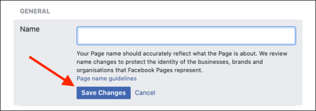 """La voce """"Nome"""" su Facebook"""