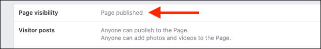L'area in cui poter vedere lo stato della pagina