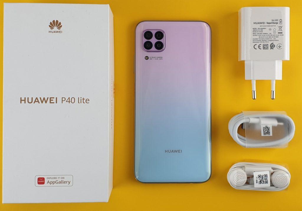 Huawei P40 Lite - confezione
