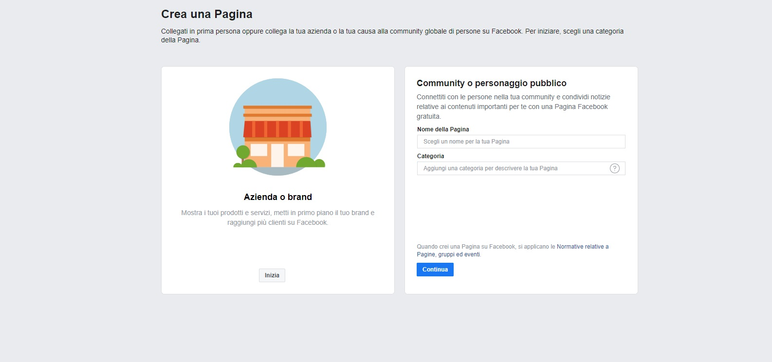 Creare una pagina