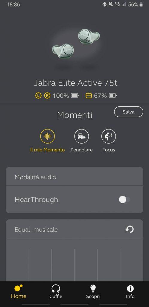 Jabra Elite Active 75t - app 1