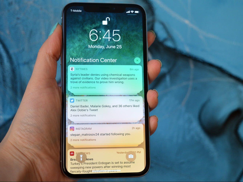 iphone batteria notifiche