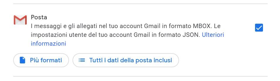 Backup dati Gmail